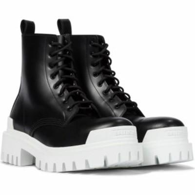 バレンシアガ Balenciaga レディース ブーツ ショートブーツ シューズ・靴 strike leather ankle boots Black/Optical White