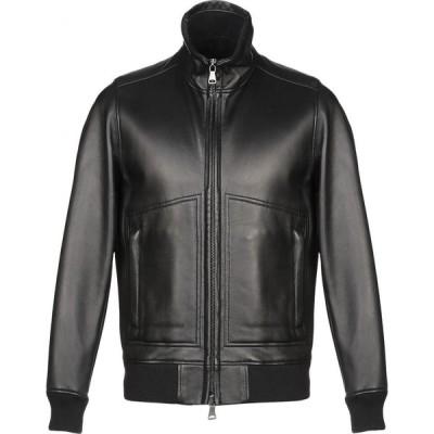 オルチアーニ ORCIANI メンズ レザージャケット アウター Leather Jacket Black