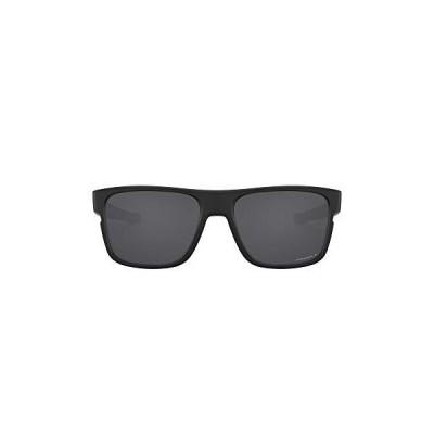 Oakley Men's OO9361 Crossrange Square Sunglasses, Matte Black/Prizm Black Polarized, 57 mm[並行輸入品]