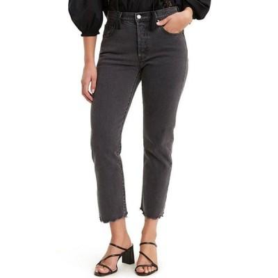 リーバイス レディース デニムパンツ ボトムス Levi'sR 501 Straight Leg Raw Hem Cropped Jeans