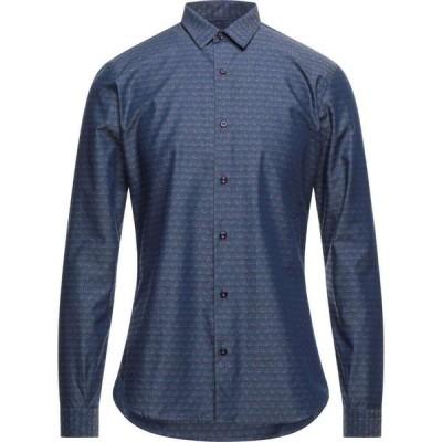 ニール カッター NEILL KATTER メンズ シャツ トップス patterned shirt Blue
