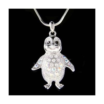 ネックレス インポート スワロフスキ クリスタル ジュエリー Baby Emperor Penguin made with Swarovski Crystal Antarctica Jewelry Necklace New
