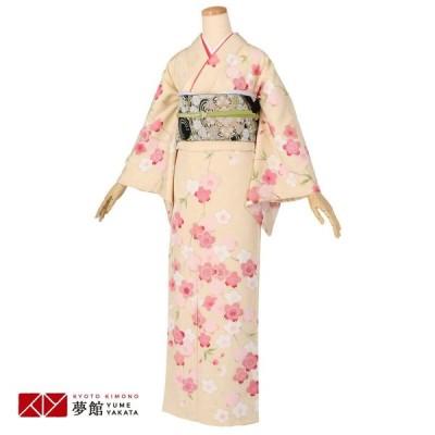 袷 訪問着 レンタル 結婚式 入学式 卒業式 クリーム 枝垂桜 対応身長160〜164cm H1143