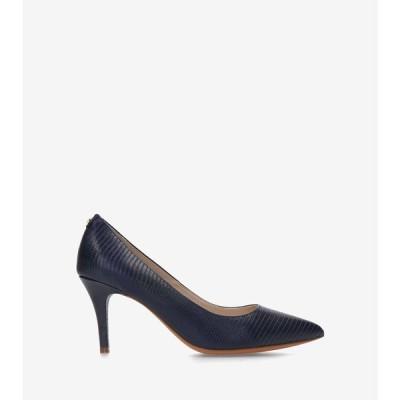 コールハーン Colehaan アウトレット レディース シューズ 靴 パンプス & ウェッジ ジェンマ ロゴ パンプ womens W17938 マリンブルー リザード プリント