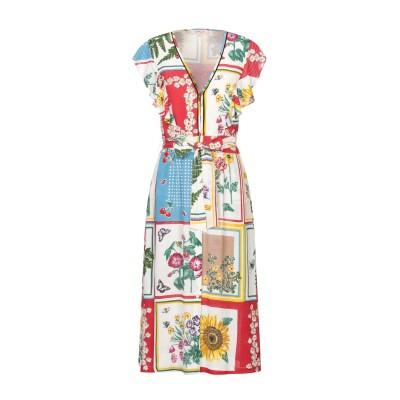 RENE' DERHY 7分丈ワンピース・ドレス レッド M レーヨン 100% 7分丈ワンピース・ドレス