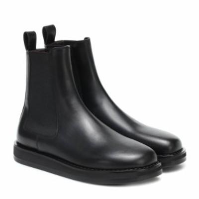 ザ ロウ The Row レディース ブーツ ショートブーツ シューズ・靴 Gaia leather ankle boots Black
