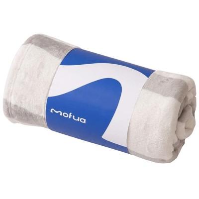 ナイスデイ mofua プレミアムマイクロファイバー毛布 ボーダー柄500002N1サイズ:SD色:グレー