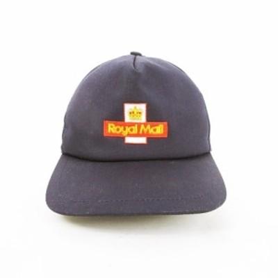 【中古】ロイヤルメール ROYAL MAIL SUMMER CAP サマーキャップ 5パネル 帽子 ロゴ刺繍 バックベルト S ネイビー 紺