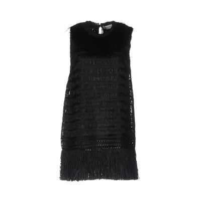 ヴァレンティノ VALENTINO ミニワンピース&ドレス ブラック XS レーヨン 100% / ポリエステル / シルク ミニワンピース&ドレス