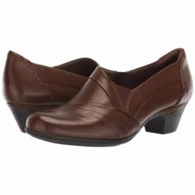 ロックポート スリッポン・フラット Cobb Hill Abbott Slip-On Brown Leather