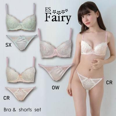 ES Fairy  ESフェアリー71331 ブラ&ショーツセット パステルカラー ブラジャーとショーツのセット