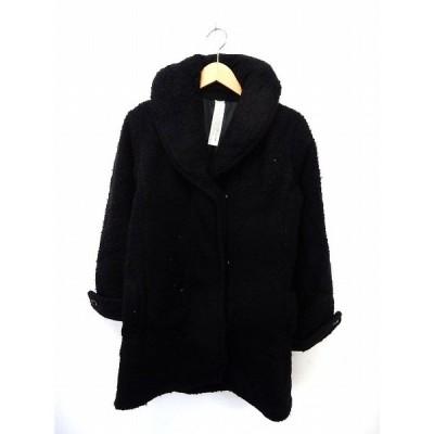 【中古】ムルーア MURUA コート アウター 中綿 ビッグカラー シンプル ポケット ブラック /ST35 レディース 【ベクトル 古着】
