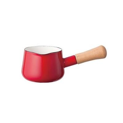 富士ホーロー ソリッド ミルクパン 12cm SD-12M・R 赤 ASL6801