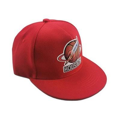 スナップバック帽子 スポーツ ヒップホップ ボーイハット ユニセックス 帽子 調節可能 ボールキャップ シカゴ ブラック レッド US サイズ: 55