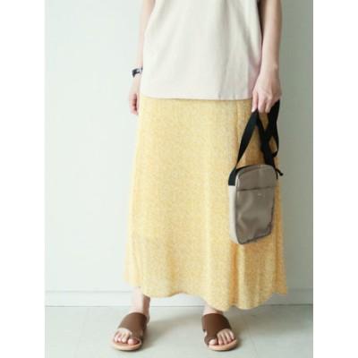 小花プリントプリーツマーメードスカート