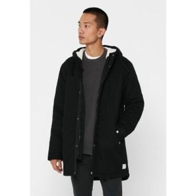 オンリーアンドサンズ メンズ コート アウター Winter coat - black black