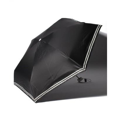 (estaa/エスタ)estaa(エスタ)超軽量折りたたみ日傘 5段ミニ ボーダー/レディース ブラック