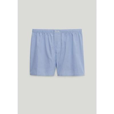 メンズ ファッション MIT VICHYKAROS - Boxer shorts - light blue
