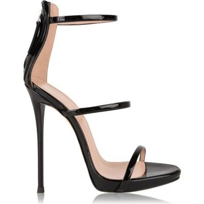 ジュゼッペ ザノッティ GIUSEPPE ZANOTTI レディース サンダル・ミュール シューズ・靴 Patent Leather Sandals Black