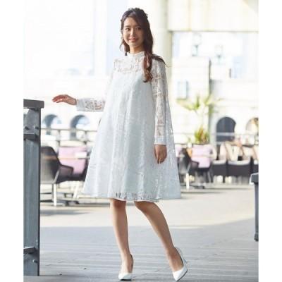ドレス 【kaene×formforma】ボトルネックAラインウェディングドレス