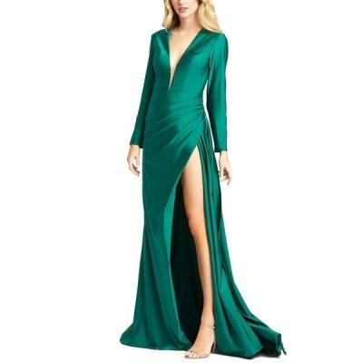 マックダガル ワンピース トップス レディース Side-Slit Gown Emerald