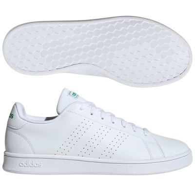 アディダス (adidas) ADVANCOURT BASE(ランニングホワイト×ランニングホワイト×グリーン) EE7690 [分類:メンズファッション スニーカー ローカット]