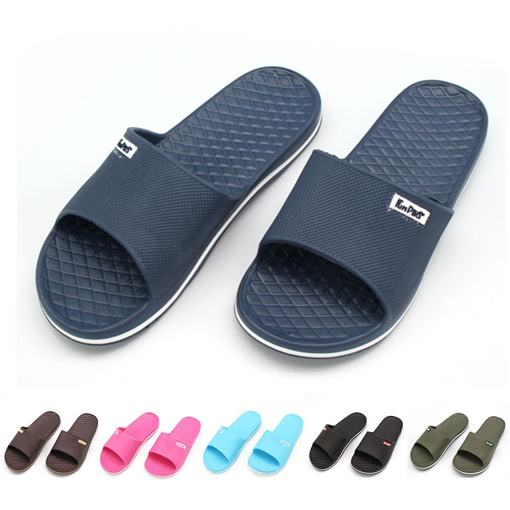晶亮菱格紋室外拖鞋(男段)-軍綠色/咖啡色/深藍色/黑色【333家居鞋館】