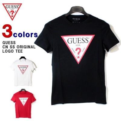 クリポス送料無料(2点まで) ゲス Tシャツ GUESS (ゲス) メンズ レディース 半袖Tシャツ クルーネック ロゴ プリント Tシャツ CN SS ORIGINAL LOGO M91I29