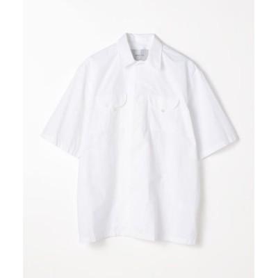 TOMORROWLAND/トゥモローランド BAGUTTA コットン ダブルポケットショートスリーブシャツ 11 ホワイト 40