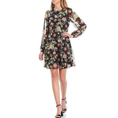 トミー ヒルフィガー レディース ワンピース トップス Floral Balloon Sleeve Chiffon Dress