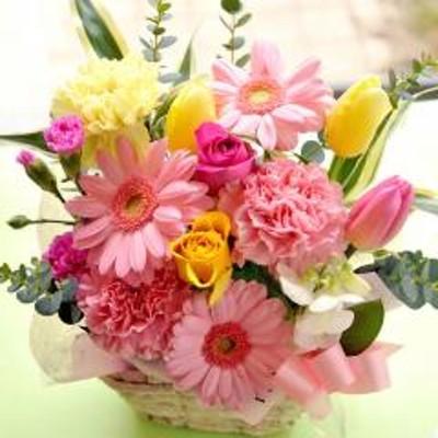 フラワーギフト  春色ミックスアレンジ 生花 送料無料 誕生日 記念日 お祝い ギフト
