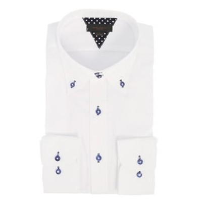 形態安定抗菌防臭スリムフィット ドゥエボタンダウン長袖ビジネスドレスシャツ/ワイシャツ