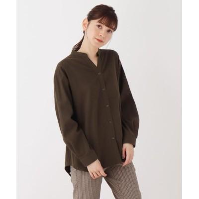 SHOO・LA・RUE(シューラルー) 【M-L】フランネルキーネックシャツ
