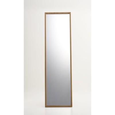 インテリア雑貨 日用品 スタンドミラー 姿見鏡 壁掛け鏡 Incery(インサリー) 天然木製 スリムミラー 幅44cm H91818