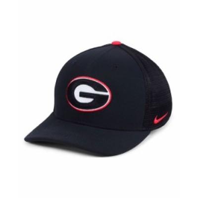 ナイキ メンズ 帽子 アクセサリー Georgia Bulldogs Col Aro Swooshflex Cap Black
