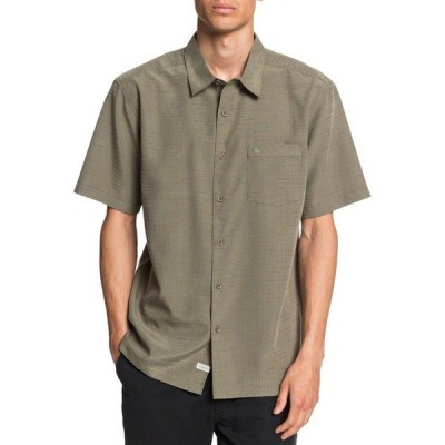 クイックシルバー シャツ トップス メンズ Quiksilver Men's Waterman Centinela 4 Short Sleeve Shirt DeepLichen