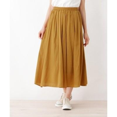 スカート サテンギャザースカート