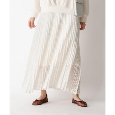 スカート レースプリーツスカート