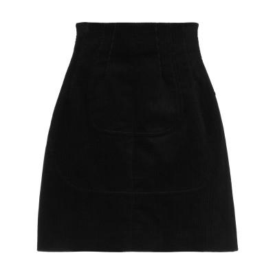 ヌメロ ヴェントゥーノ N°21 ひざ丈スカート ブラック 38 コットン 99% / ポリウレタン 1% ひざ丈スカート