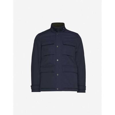 テッドベーカー TED BAKER メンズ ジャケット シェルジャケット アウター Reams funnel-neck relaxed-fit shell jacket NAVY