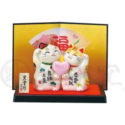 彩絵恋愛成就招き猫 AM-Y7351