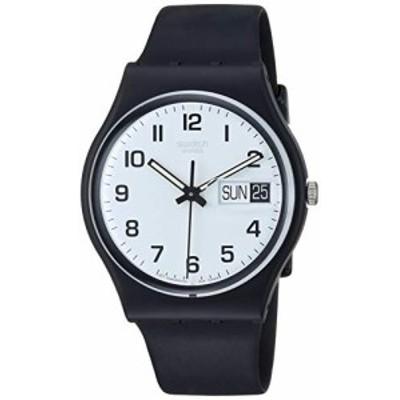 腕時計 スウォッチ レディース Swatch Women's None Quartz Silicone Strap, Black, 19 Casual Watch (M