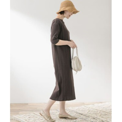 URBAN RESEARCH ROSSO/アーバンリサーチ ロッソ F by ROSSO ランダムリブ2WAYワンピース BROWN FREE