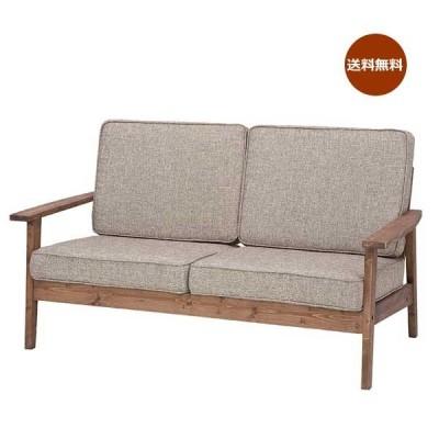 ソファ ラブチェアー 2人掛 2P 椅子 いす リビングソファー 木フレーム 天然木 パイン材 幅141cm AZ-0155