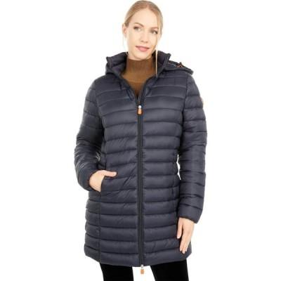 セイブ ザ ダック Save the Duck レディース ダウン・中綿ジャケット フード アウター Giga Hooded Puffer Jacket with Removable Hood Black