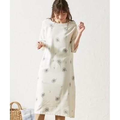 タンポポ綿毛 チュニックワンピース (ワンピース)Dress