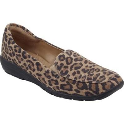 イージースピリット レディース スリッポン・ローファー シューズ Abriana Loafer Natural Leopard Suede
