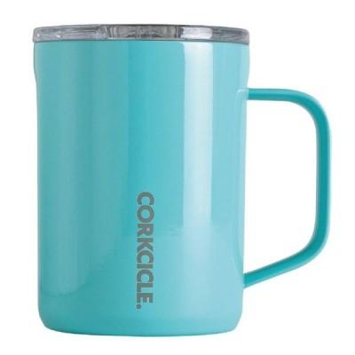 SPICE スパイス CORKCICLE COFFEE MUG Turquoise 16oz 2516GT | デザイン 保冷 保温 マグカップ ステンレス製 タンブラー 日用 雑貨