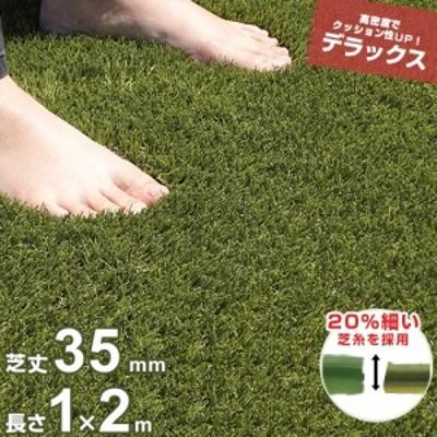 リアル人工芝 ロール 1m×2m デラックス仕様 (芝丈35mm) AT-DX1-3502