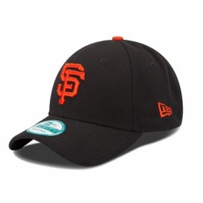 """ニューエラ メンズ キャップ """"San Francisco Giants"""" New Era Men's Team League 9Forty Adjustable Hat - Black"""